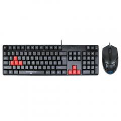 Гейминг комплект мишка и клавиатура, ZornWee Revenge II, Черен  - 6075