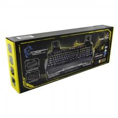 Геймърска клавиатура, Dragon War, Steel Wings, Оптична, Черен – 6095