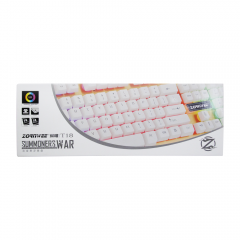 Геймърска клавиатура, ZornWee T18 USB, Сребрист - 6074
