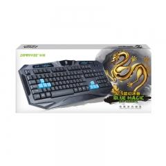 Геймърска клавиатура, ZornWee X3, USB, Черен - 6060